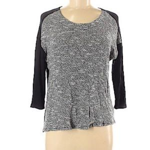 Kut from the Kloth Silver Metallic and Black Top M